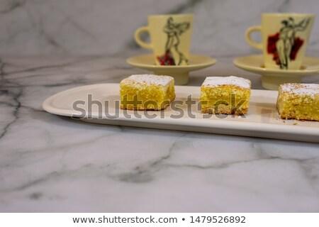 couple of homemade lemon pies with organic lemons stock photo © mpessaris