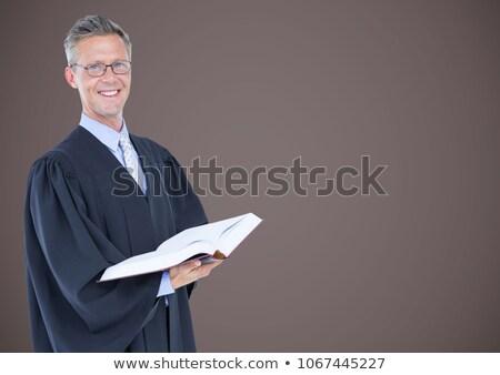Masculino juiz livro aberto marrom composição digital computador Foto stock © wavebreak_media