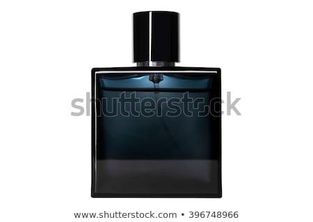 Czarny perfum butelki biały szkła piękna Zdjęcia stock © bborriss