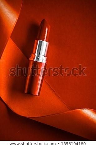Luksusowe szminki jedwabiu wstążka pomarańczowy wakacje Zdjęcia stock © Anneleven