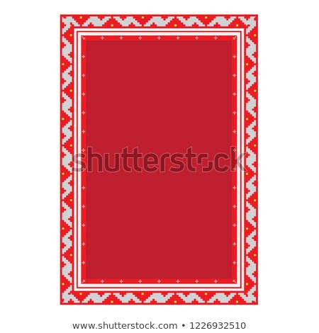 Christmas Banner, Empty Poster with Embroidery Stock photo © robuart