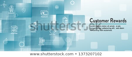 Gift card klant loyaliteit banner terugkeren marketing Stockfoto © -TAlex-