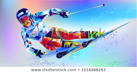Skiing and Figure Skating, Winter Sports Activity Stock photo © robuart