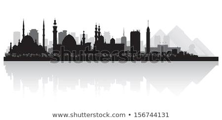 Cairo blanco negro silueta simple turismo Foto stock © ShustrikS