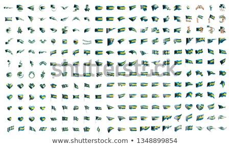 Nagy gyűjtemény vektor zászlók Bahamák felirat Stock fotó © butenkow