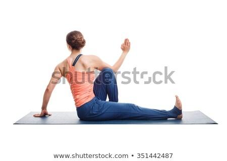 Donna yoga montare spinale Foto d'archivio © dmitry_rukhlenko