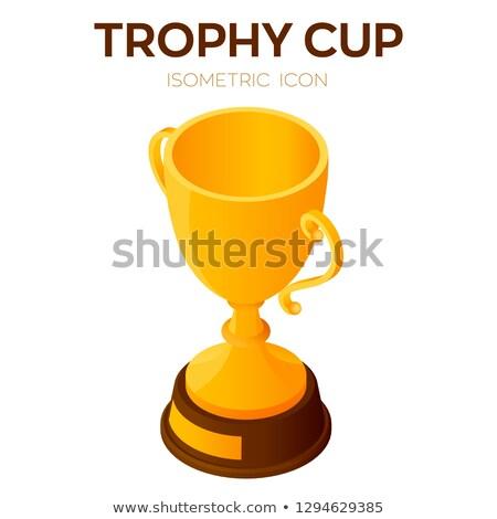 Champion Tasse Symbol Vektor Zeichen Stock foto © pikepicture