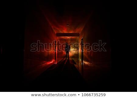 Tajemnicy świetle szafka domu tekstury Zdjęcia stock © Ansonstock