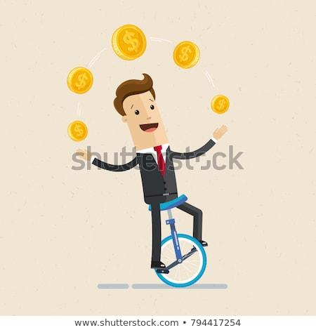 money juggler Stock photo © pkdinkar