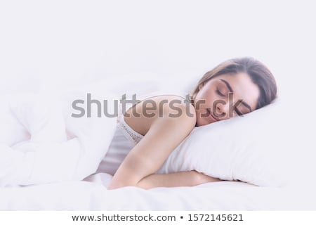beautiful blonde in a bedroom stock photo © pilgrimego
