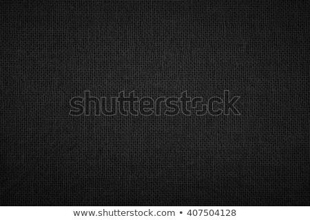 Fekete vászon textúra részlet háttér Stock fotó © THP