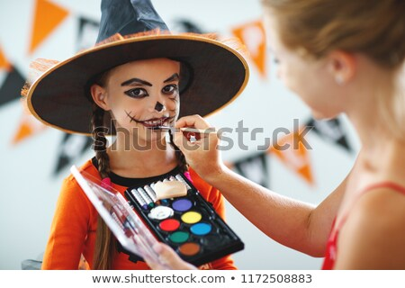 family getting ready for halloween Stock photo © photography33