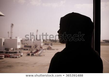 Moslim luchthaven stad menigte Blauw metro Stockfoto © yuliang11