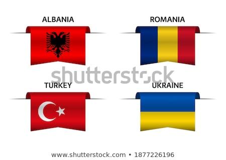 Vector etiqueta Albania bandera sello Foto stock © perysty
