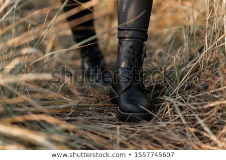 femenino · arranque · negro · blanco · fondo · moda - foto stock © gromovataya