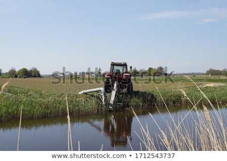 Tracteur holland Pays-Bas vert Europe machines Photo stock © phbcz