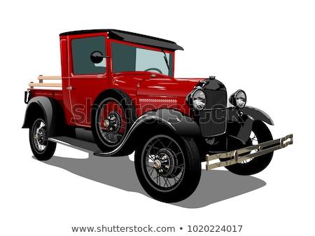 Antique Car Grill Stock fotó © Mechanik