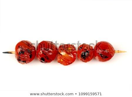 salmão · tomates · cereja · comida · tomates · vegetal · pratos - foto stock © phbcz