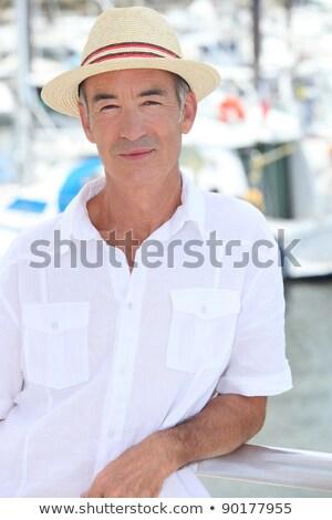 ouderen · man · boot · naar · cruise - stockfoto © photography33