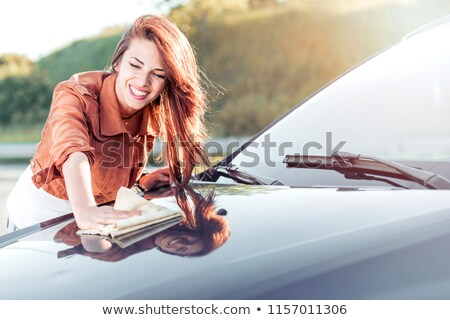 Close-up of a woman cleaning her car Stock photo © wavebreak_media