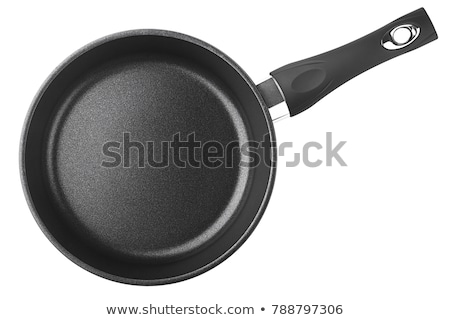 Fry pan isolated on a white Stock photo © caimacanul