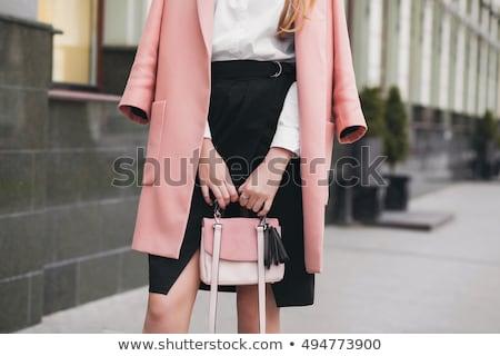 美人 黒 スカート 白 シャツ 女性 ストックフォト © acidgrey