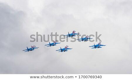 Combattente aeromobili gruppo squadra russo cavaliere Foto d'archivio © Aikon