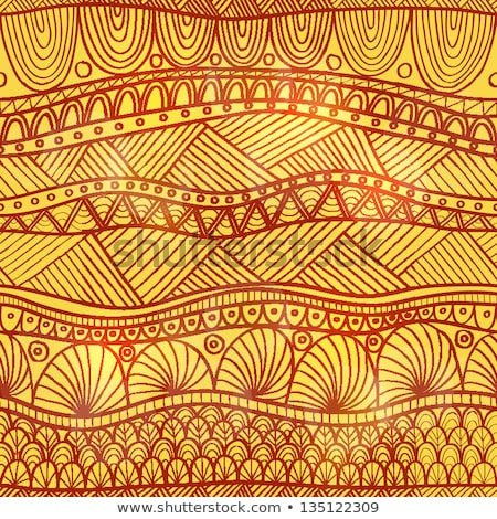 indiai · henna · tetoválás · végtelen · minta · elefántok · vektor - stock fotó © creative_stock