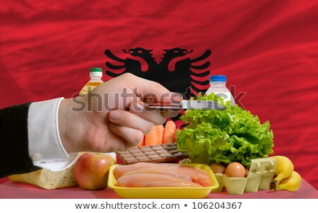 Buying Groceries With Credit Card In Albania Foto stock © vepar5