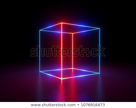 Stock fotó: Kockák · fekete · absztrakt · vektor · művészet · illusztráció