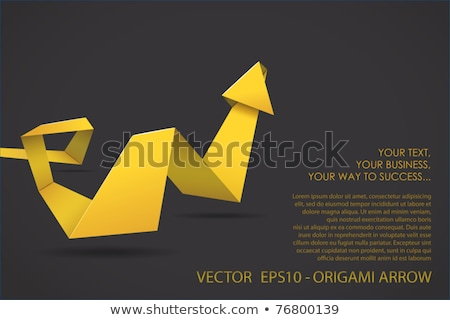 Folded Paper Arrows Stock photo © liliwhite