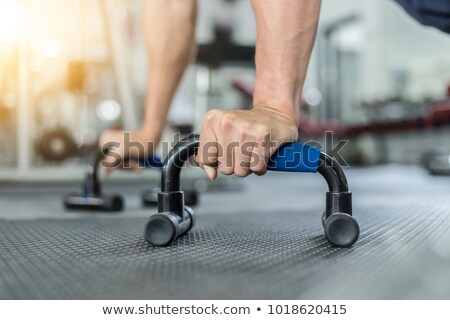 Push-up bars isolated Stock photo © shutswis