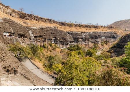 derrière · Rock · scénique · vue · ciel · nature - photo stock © jkraft5