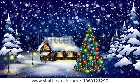 полночь · зима · падение · аннотация - Сток-фото © artizarus