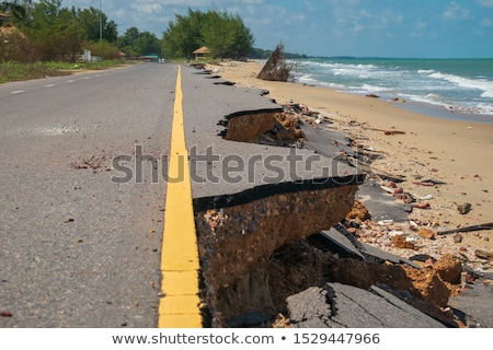 Eroded road Stock photo © hraska