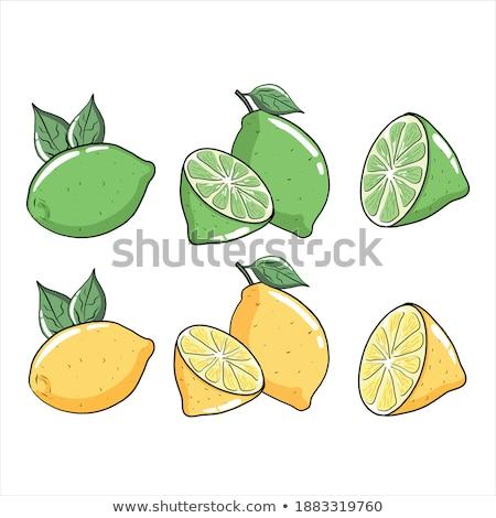 Limon ayarlamak dilimleri yalıtılmış beyaz farklı Stok fotoğraf © snyfer