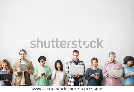 Persona server stanza rete industria Foto d'archivio © Ronen