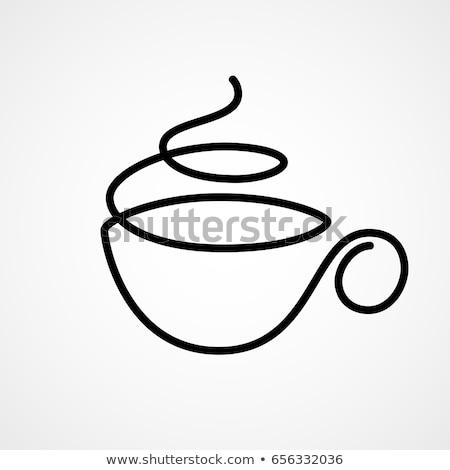чашку кофе аннотация белый пар продовольствие Сток-фото © ra2studio