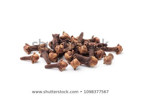 гвоздика коричневый продуктовых белый фон Сток-фото © jonnysek