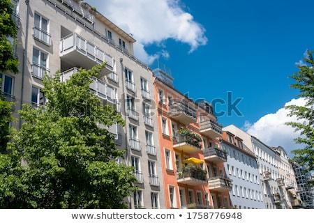 facade of old building stock photo © meinzahn