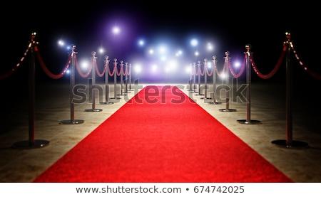 Vörös szőnyeg film csillagok mozi színpad szőnyeg Stock fotó © adrenalina