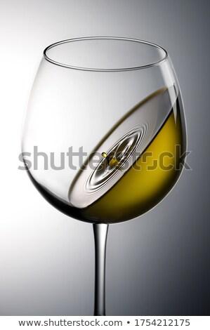 Borospoharak gravitáció buli háttér szemüveg ital Stock fotó © c-foto