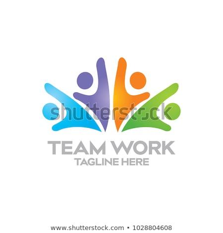 Logo Teamwork stock photo © burakowski
