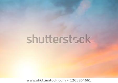 Narancs égbolt naplemente este sötét kicsi Stock fotó © scenery1