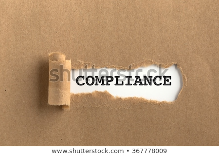 Compliance Torn Paper Stock photo © ivelin