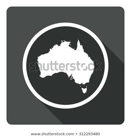 Mappa icone buio pulsanti bianco ufficio Foto d'archivio © liliwhite