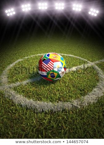 futballabda · Brazília · zászló · szürke · 3d · render · futball - stock fotó © elisanth