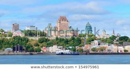 Nuvens rio Quebec Canadá grama natureza Foto stock © bmonteny