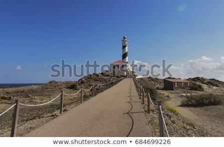 Cape Favaritx in sunny day at Menorca island, Spain. Stock photo © tuulijumala