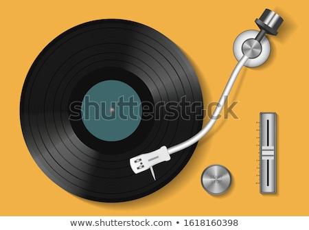 проигрыватель иллюстрация музыку сведению звук тень Сток-фото © Krisdog